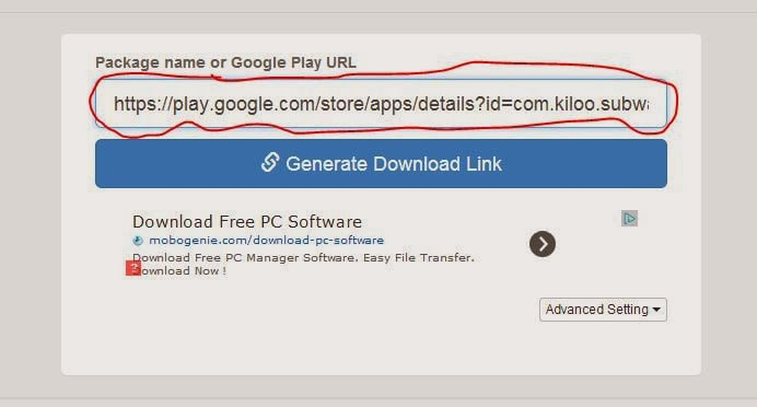Download APK file in pc