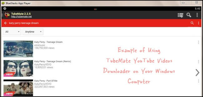 tubemate for pc using bluestacks