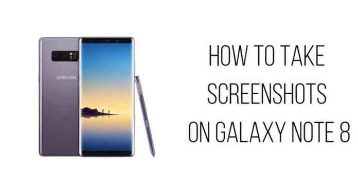 take screenshot in note 8
