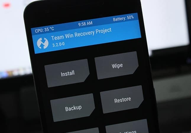install TWRP recovery manually