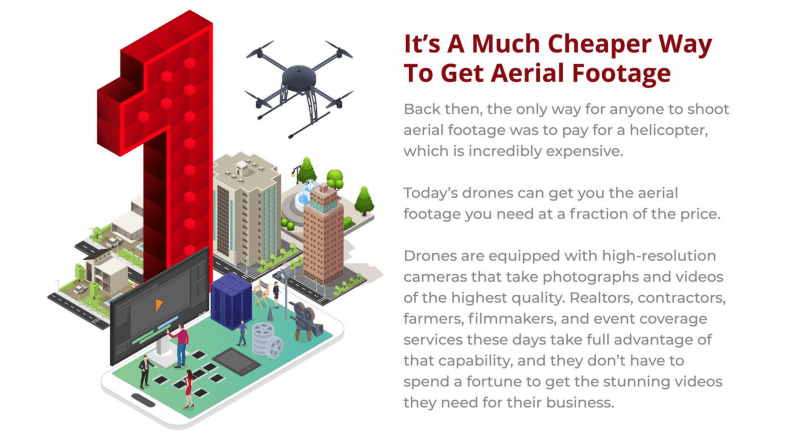 drones outdoor businesses cheaper aerial footage
