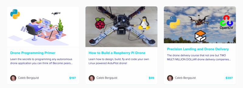 Drone Dojo online DIY drone courses