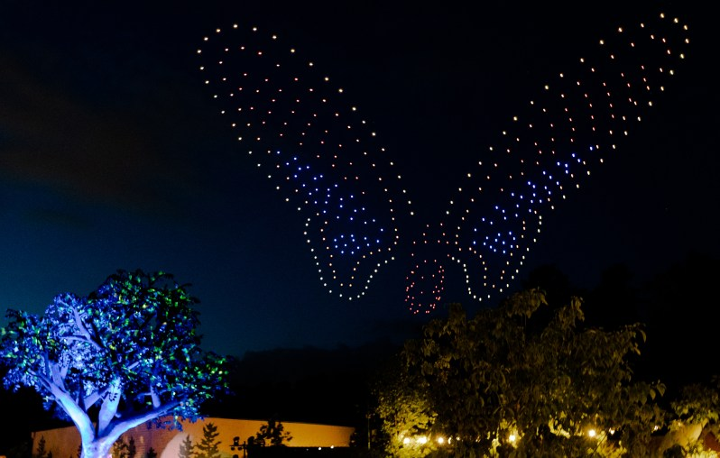 Dollywood drone light show