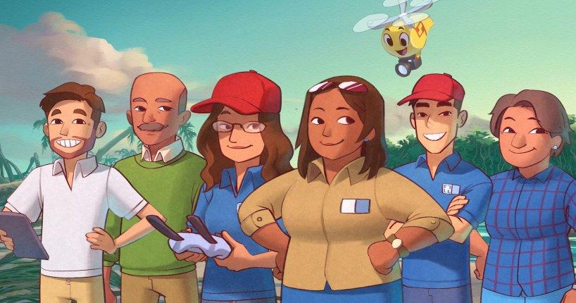 drone picture book WeRobotics Ariel & Friends in The Magic of Mangroves