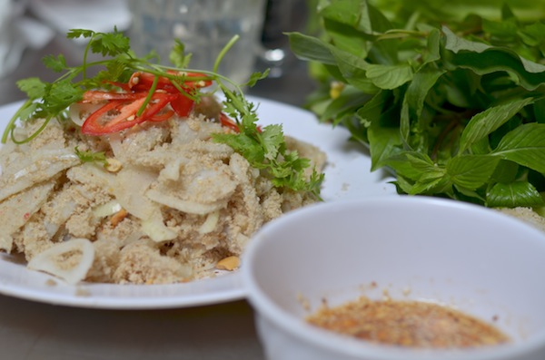 Vietnamese raw fish salad
