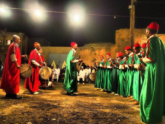 Once a year for the past 500 years, each of the six Berber tribes meet in the village of Boulaaouane for a midnight dance-off. We walked 20 minutes down a pitch-black track to get to this year's event. The kids were only awake for the first two or three dances, but they loved it.