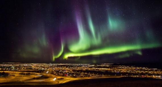 The Northern Lights. (Photo courtesy of www.iceland.is.)