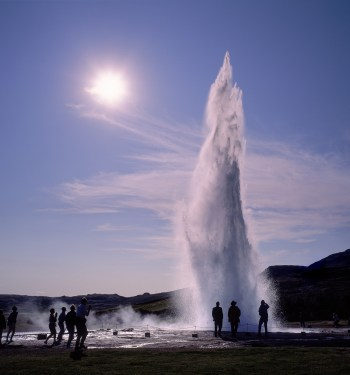 The geyser at Geysir. (image courtesy of www.iceland.is)