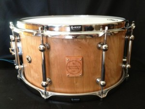 """008 - 7""""x13"""" Cherry Stave Snare"""