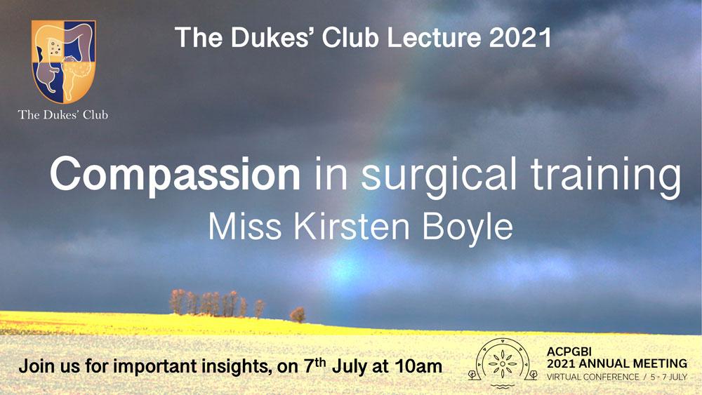 Dukes' Lecture advert