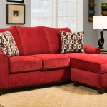 Handmade American 90 Inch Red Sofa With Reversible Chaise The Dump Luxe Furniture Outlet
