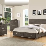 Katy Grey Modern King Storage Bedroom The Dump Luxe Furniture Outlet