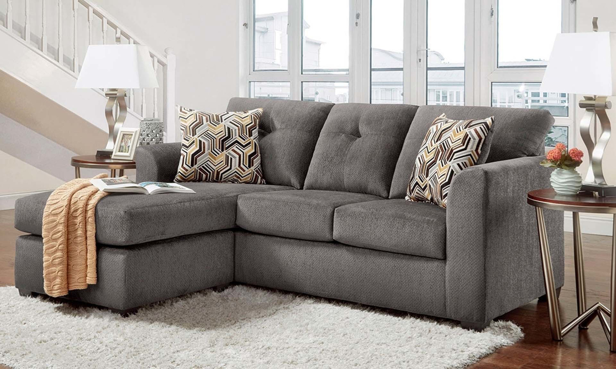 washington furniture kelly grey sofa chaise