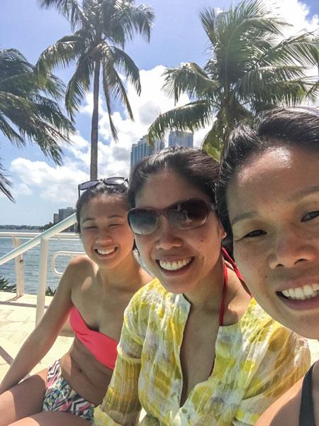 Sisters in Miami