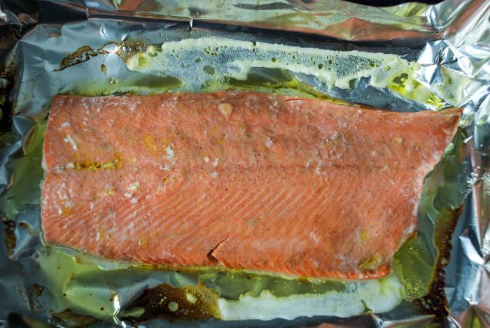 Salmon with Ginger Scallion Sauce