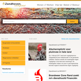 website zandhoven after