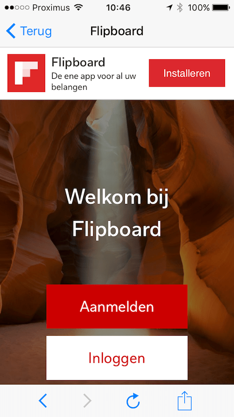 UX copy Flipboard