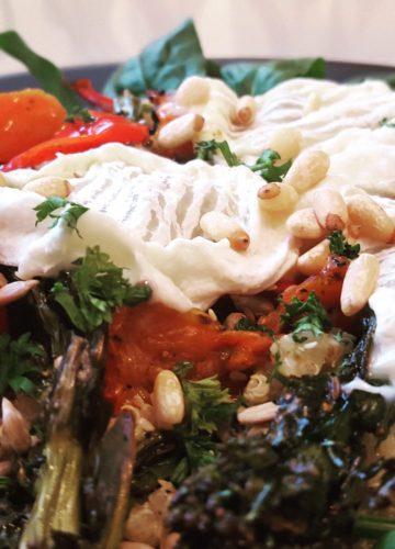 Quinoa goats cheese salad