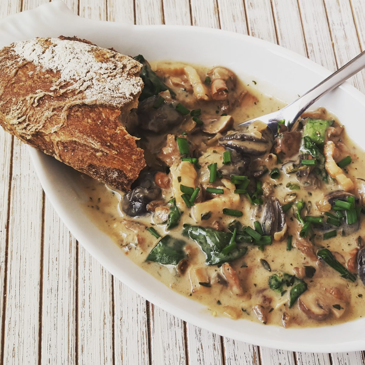 Cocotte of Escargots, Bacon and Mushrooms - The Dutch Foodie