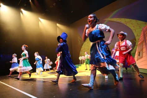 The Munchkins do a number in the Wizard of Oz. (Kâté Braydon/The East)