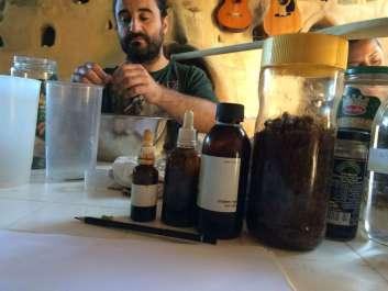 Preparing the Rosemary