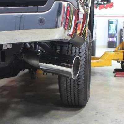https www theedgeautomotive com product monster exhaust system 5 inch single exit chrome tip 2017 present ford f250 f350 f450 67l