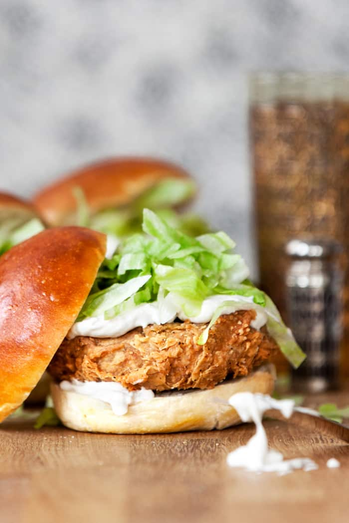 Vegan chicken burger recipe