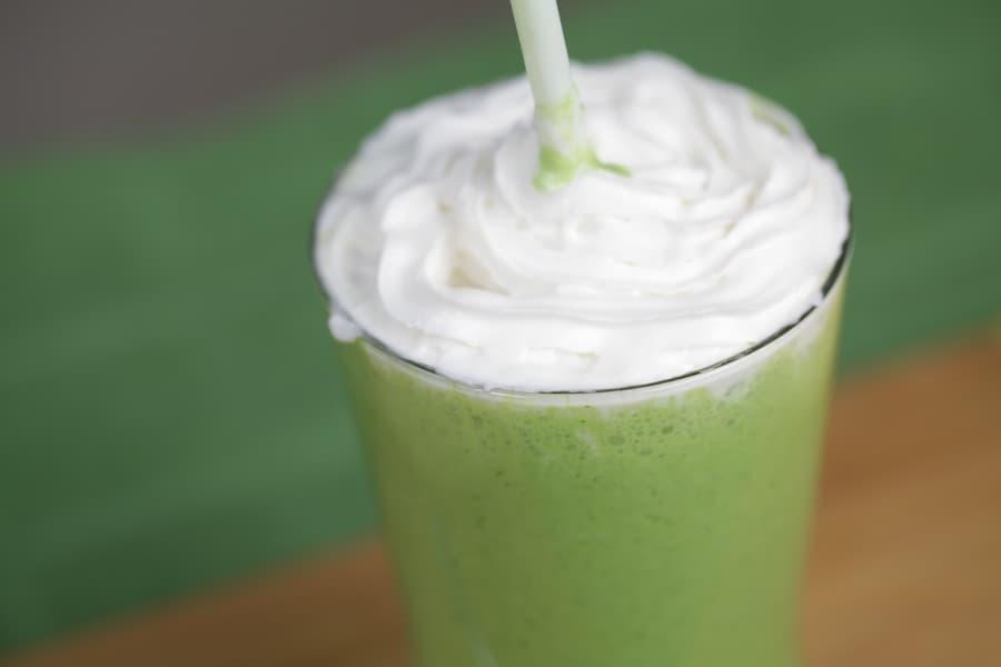 Vegan Shamrock Milk Shake