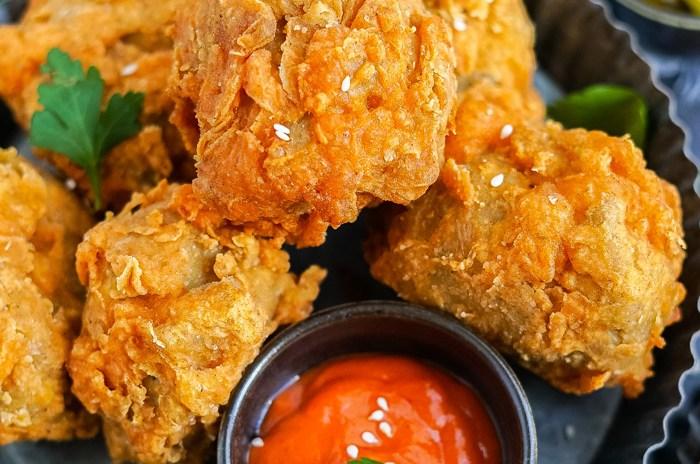vegetarian popeyes fried chicken
