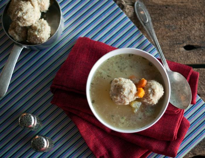 matzah ball soup VEGN