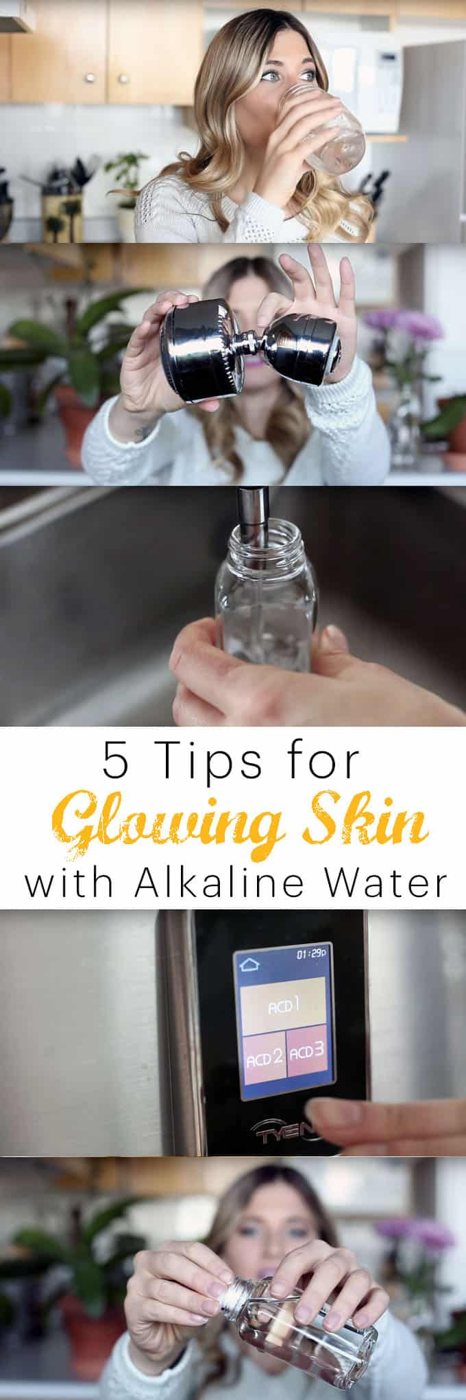 How to clean your skin naturally with alkaline water