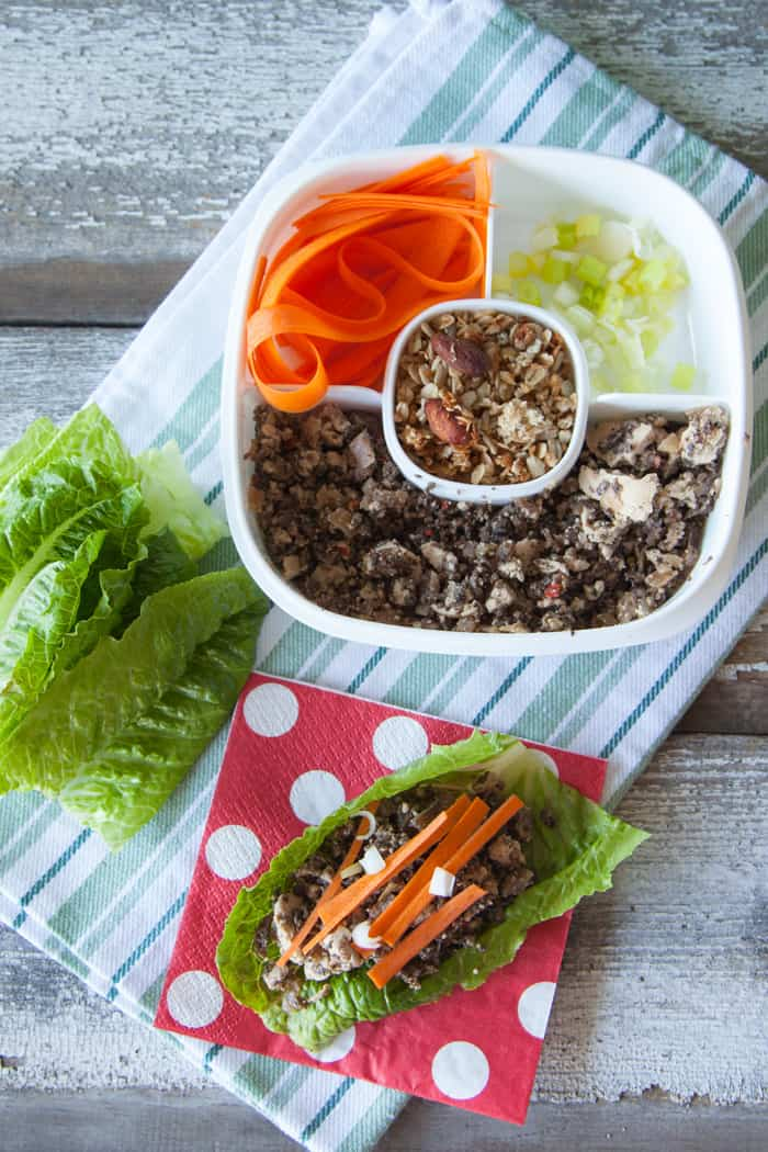 Easy Vegan Back to School Lunch Ideas Tofu Lettuce Wraps