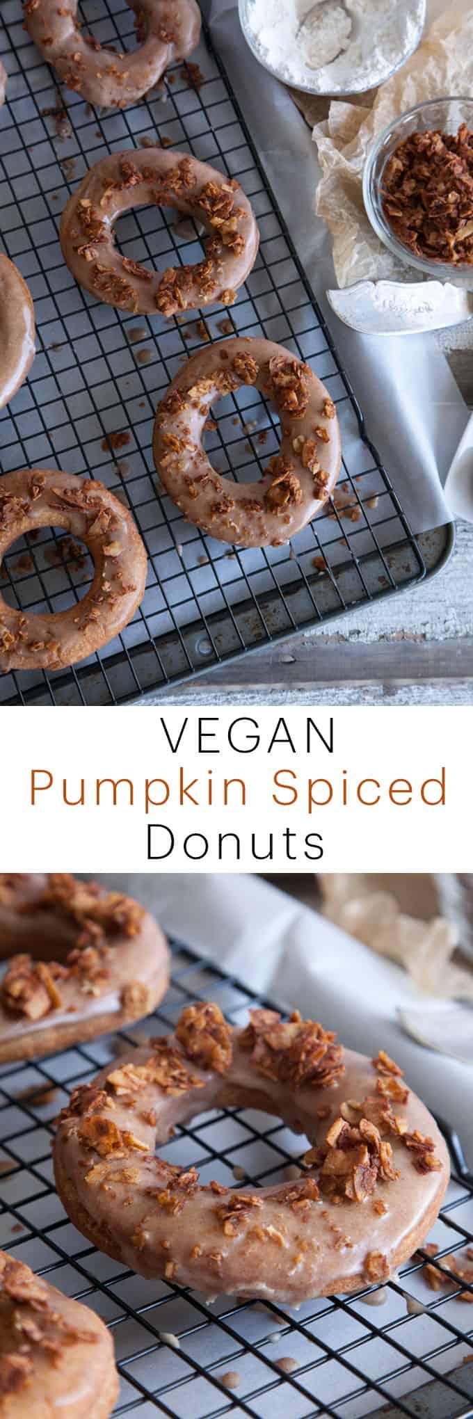 egan Pumpkin Spice Donuts | A Vegan Recipe Inspired by Fall