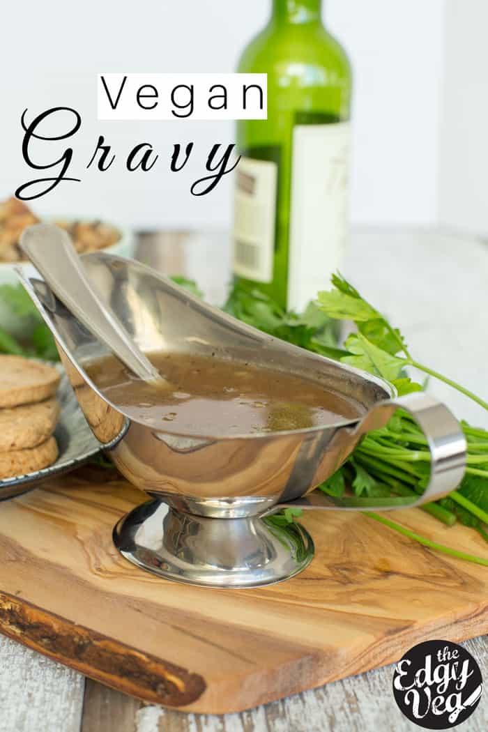 Easy Vegan Gravy Recipe | VEGAN Holiday menu | Christmas Recipes | Cooking with Wine