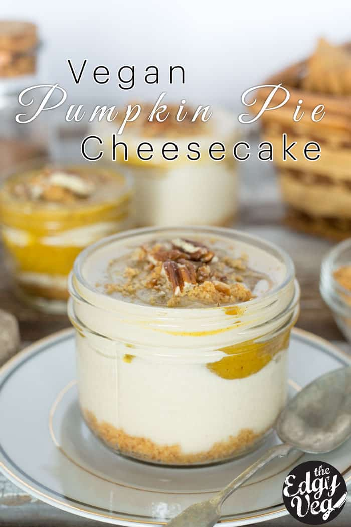 No Bake Vegan Pumpkin Spice Mini Cheesecake Recipe
