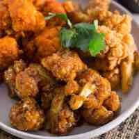 Buffalo Cauliflower Wings with Vegan Ranch Dip