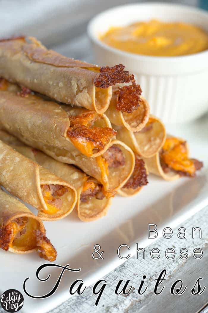 Baked Taquitos with Creamy Salsa and Guacamole   BEST SUPER BOWL SNACKS