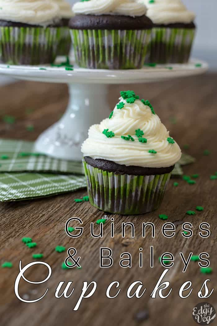 6:38 Guinness Cupcakes w/ Bailey's Buttercream | VEGAN Cupcake Recipe