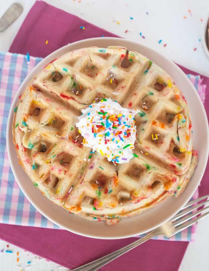 vegan Funfetti Waffles recipe
