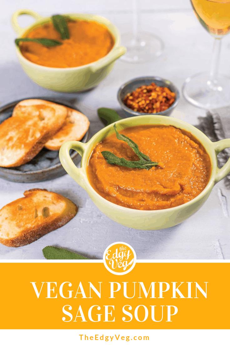 Best Vegan Pumpkin recipes pumpkin sage soup