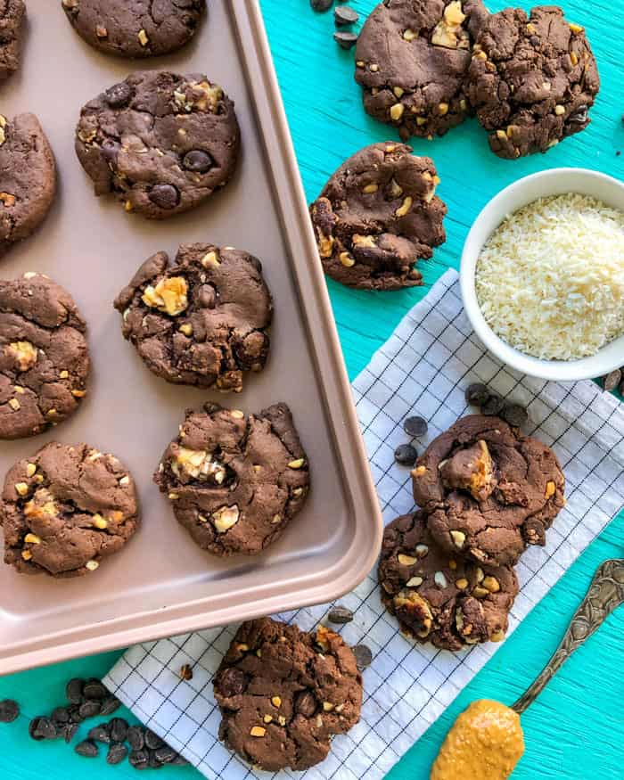 chocolate peanut butter cookies vegan
