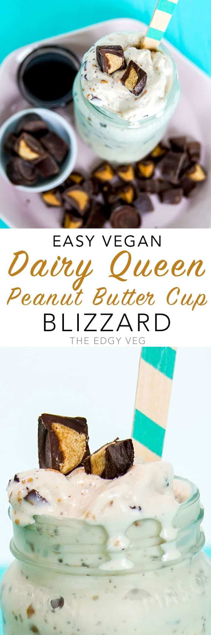 vegan Dairy Queen peanut butter cup Blizzard