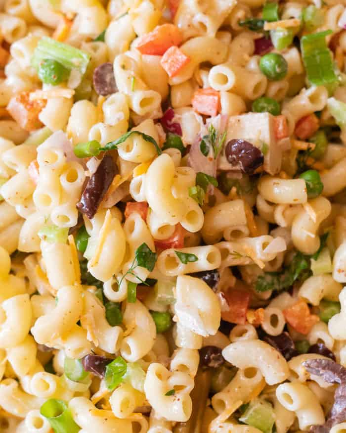 vegan macaroni salad mayo