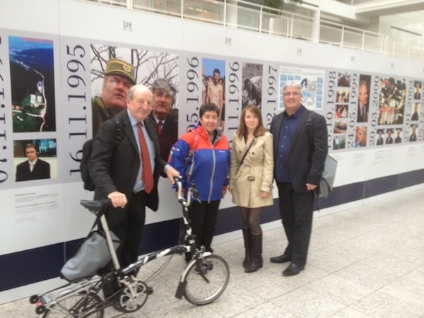 Lord Berkeley, Karen from Scottish Gov't, marianna our host and Cllr McAveety the Glasgow cycling Tsar. All in The Hague.