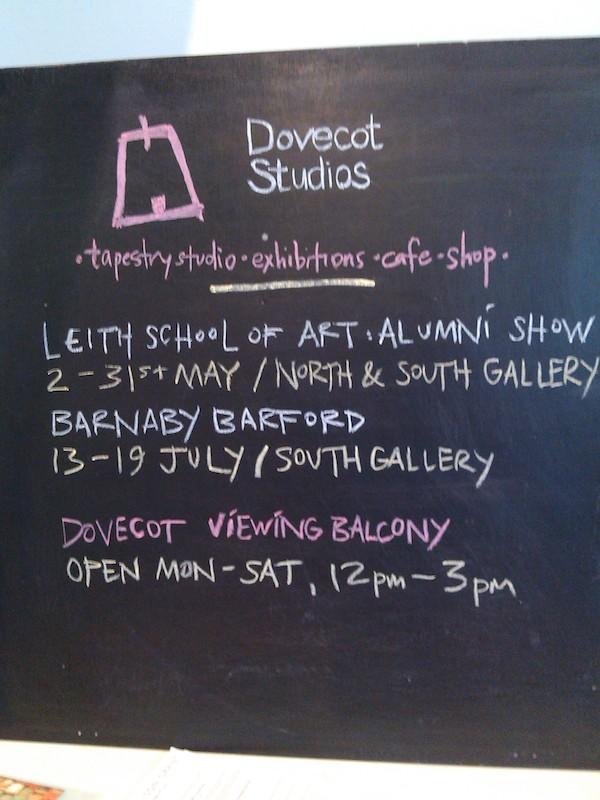 Dovecot chalkboard