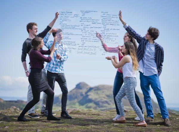 (Left to right) Vickie Henry, Adam Balfour, Sam Gregory, Bridgit Garvie, Joe Birchall, Rebecca Robertson at the launch of CodeClan in Edinburgh (Photos by Chris Watt)