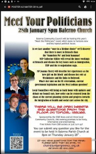 meet your politicians at balerno