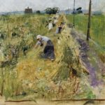 women working in a field Sir James Guthrie re pastel revival at ngs may 2016