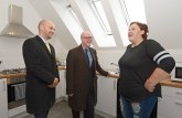 Local MSP, Ben Macpherson and Kevin Stewart MSP, Scottish Government Minister for Local Government and Housing paid a visit to resident Laura Rose on tour of the site