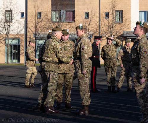 HRH The Duke of York KG shaking hands wih soldier